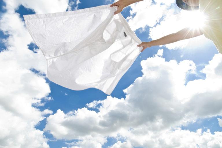 洗濯物のシワをとる