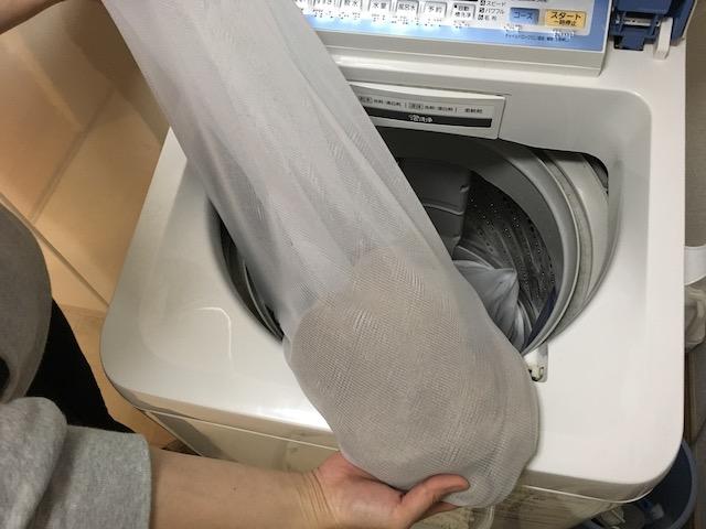 セーターを洗濯機で洗濯した結果