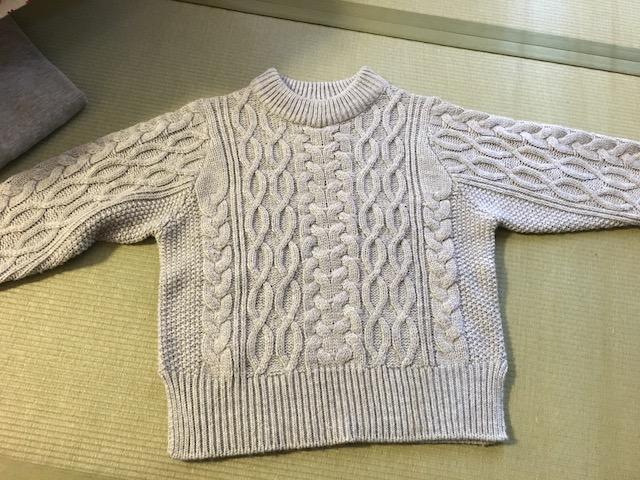 セーターを乾かした結果