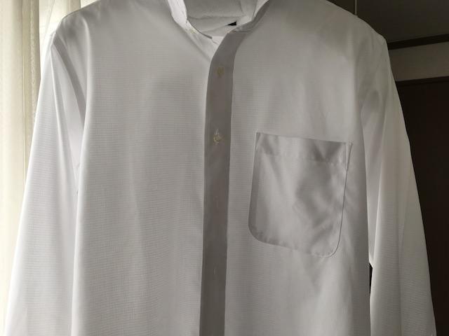 ワイシャツを干す際のボタンしめ